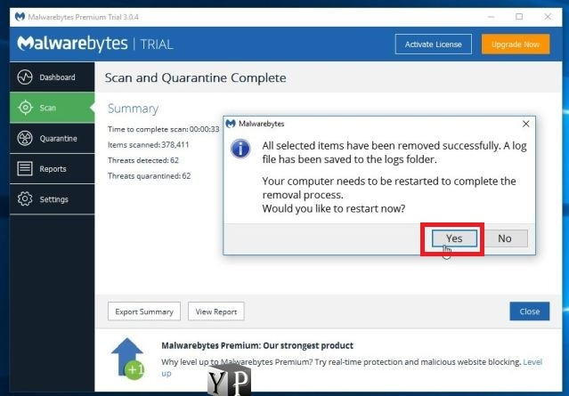 remove adwares from system
