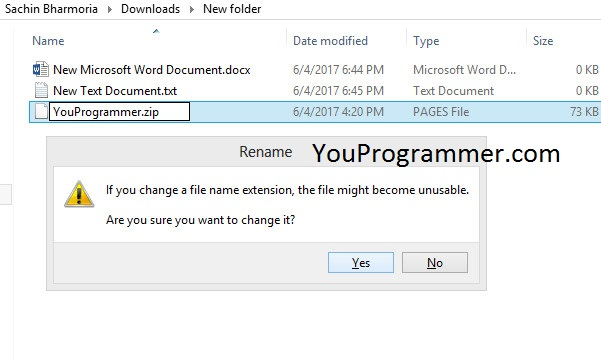 rename pages files to word