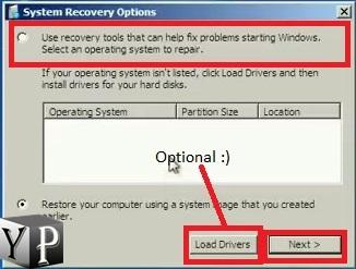 repair your computer using winre
