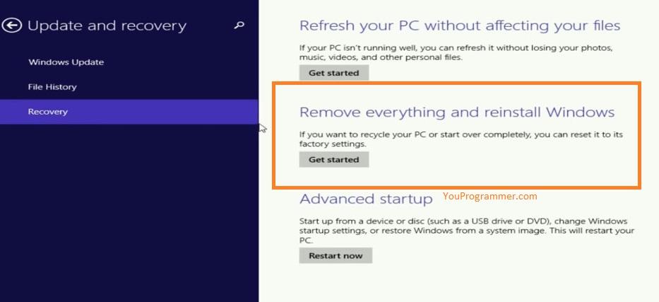 reset windows to defaults