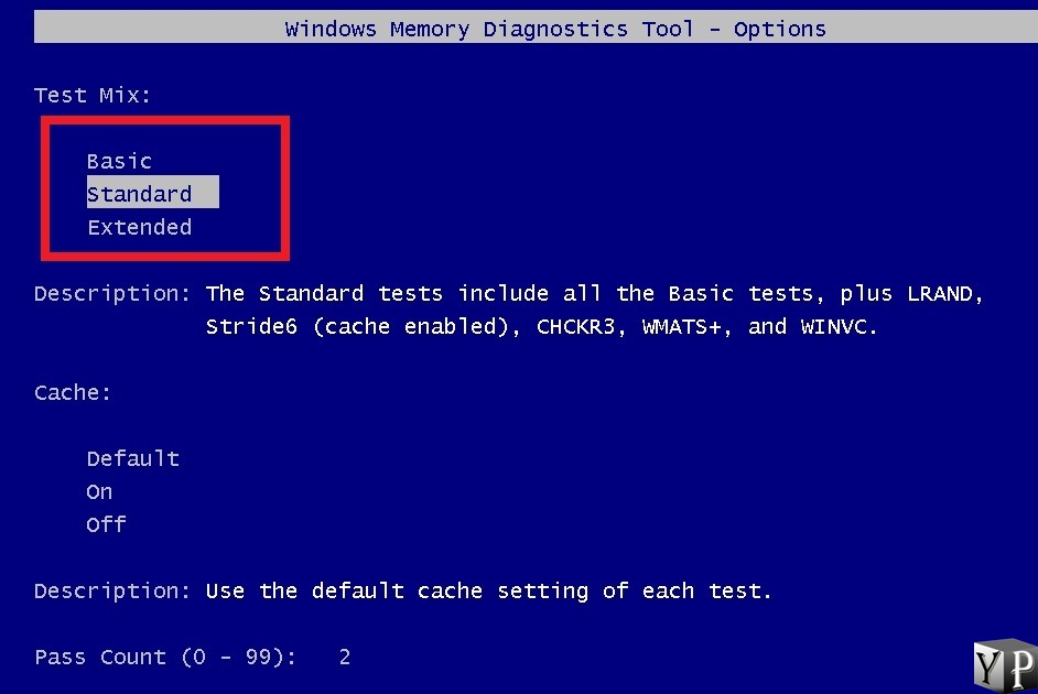 run memory scan to fix faulty hardware