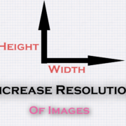 change resolution of image