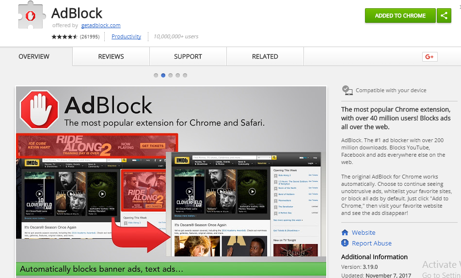 Adblocker for chrome