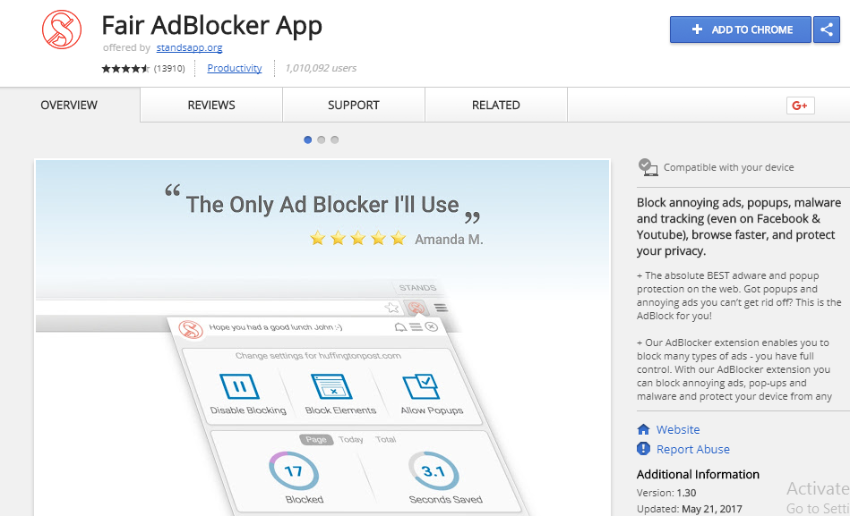 Fail Adblocker for chrome browser