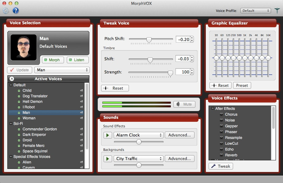 MorphVOX pro voice changer tool