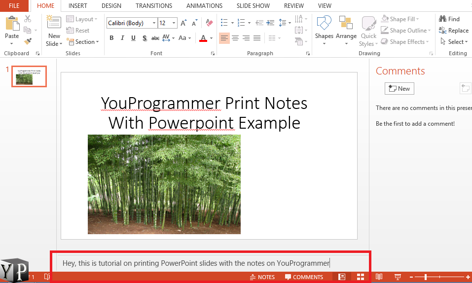 Print Powerpoint With Notes