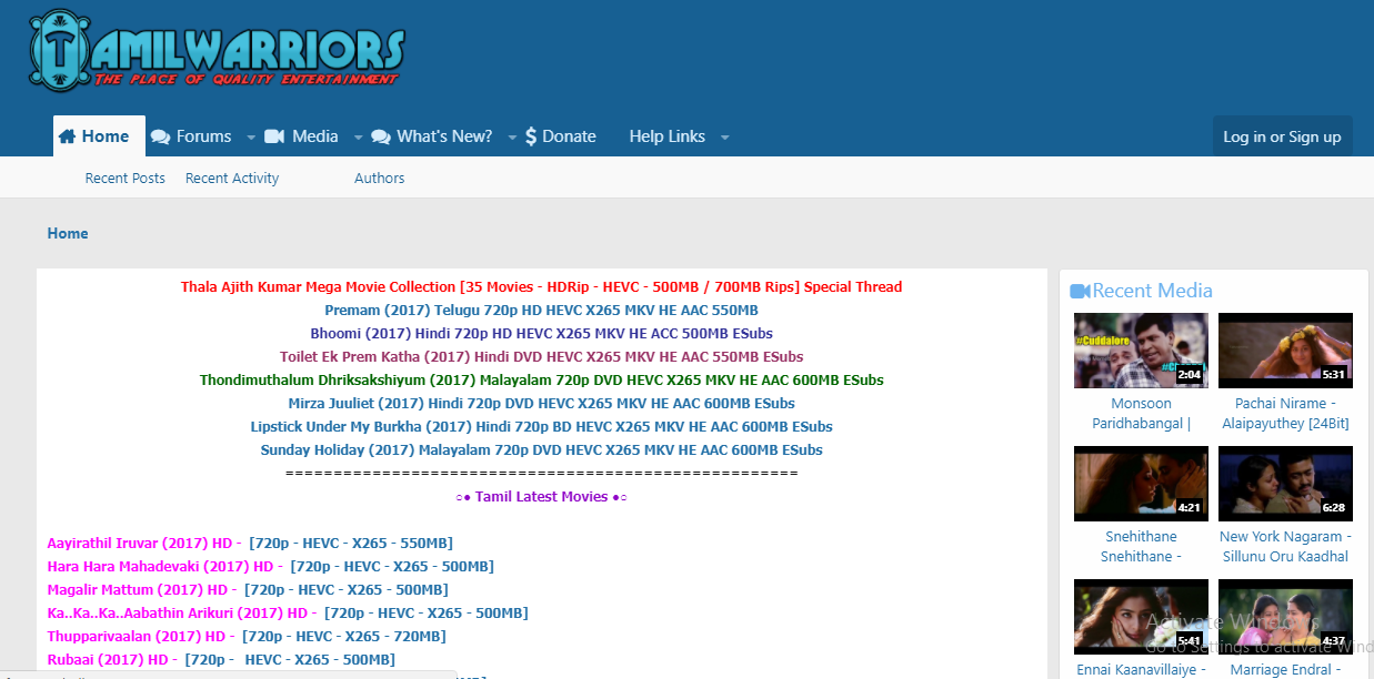 Tamil warriors movies site