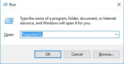 app data run windows