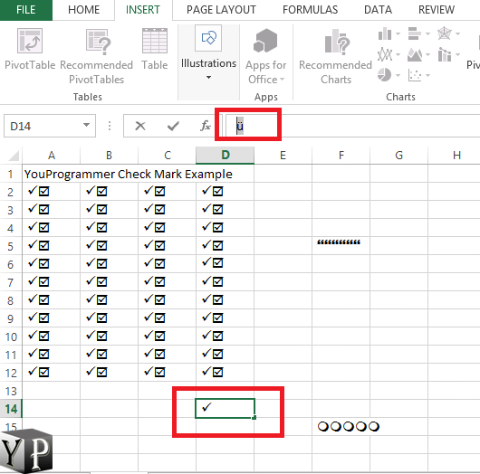 How To Make A Checkmark In Excel Spreadsheet Youprogrammer