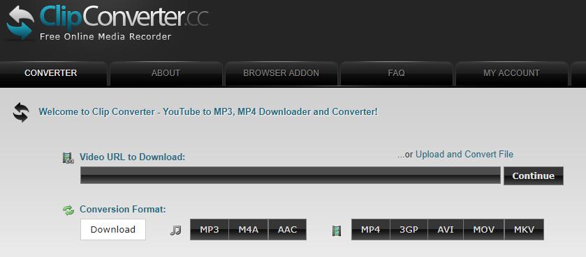 clipconverter.cc homepage