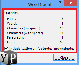count words in word document