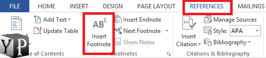 do footnotes in word
