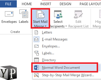 do a mail merge in word