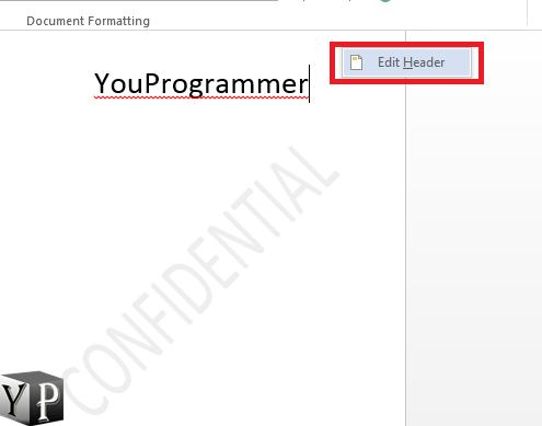 edit header