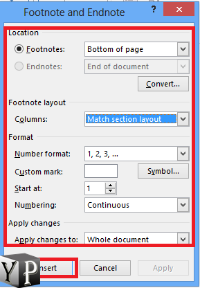 endnote in word