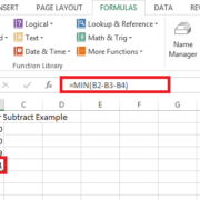 excel custom cells subtraction
