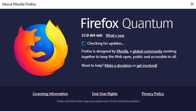 firefox quantum update