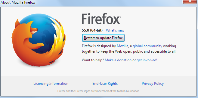 restart firefox browser
