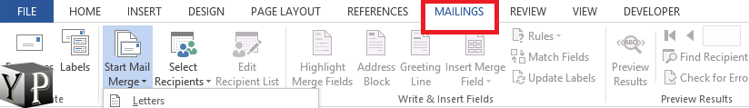 how to do mail merge in word