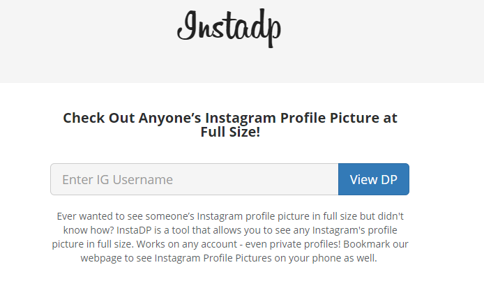 instadp to view instagram images