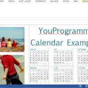 make a calendar in word