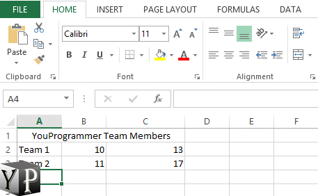 merge cells n excel