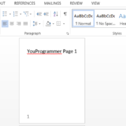 page numbers in word