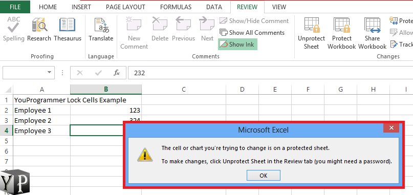 password protect spreadsheet excel