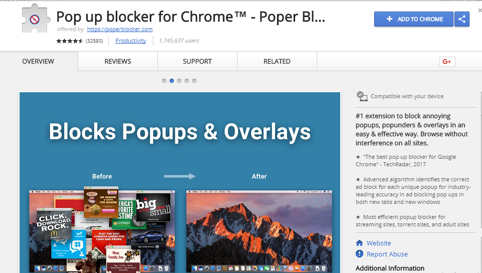 Pop up Blocker For chrome browser