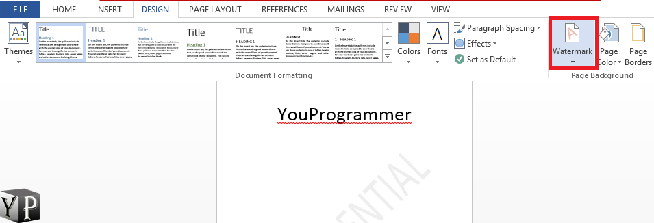 remove watermark from word document