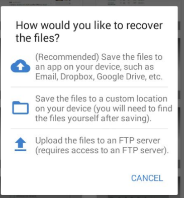 save recovered android photos diskdigger