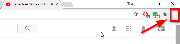 select chrome menu