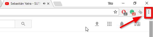 select chrome menu