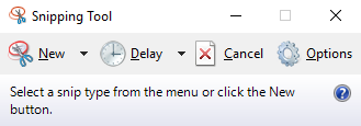 snipping tool windows 10