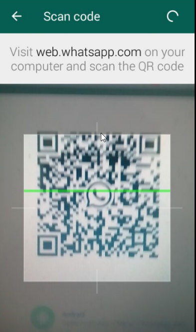 scanning bar code of whatsapp web