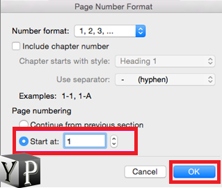 word page numbering from pages in center of the document