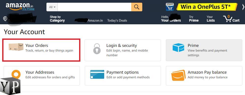cancel order using amazon app