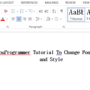 change font style word 2016