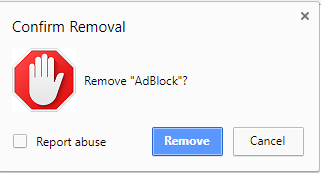 remove adblock on chrome