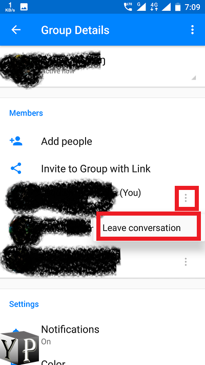 Remove Yourself From A Group Text Android