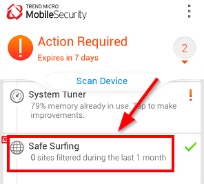 click on safe surfing trend micro