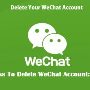 how to delete wechat account