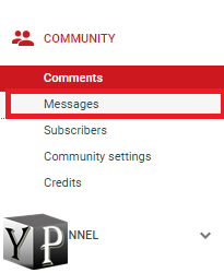 message youtube creator