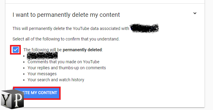 permanently delete channel on youtube