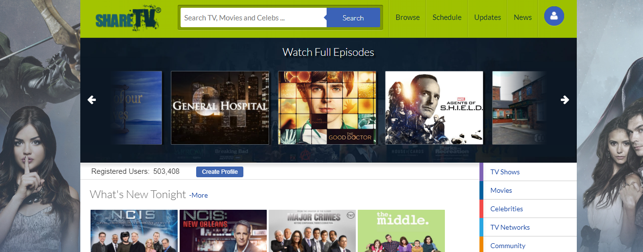 sharetv free tv streaming site