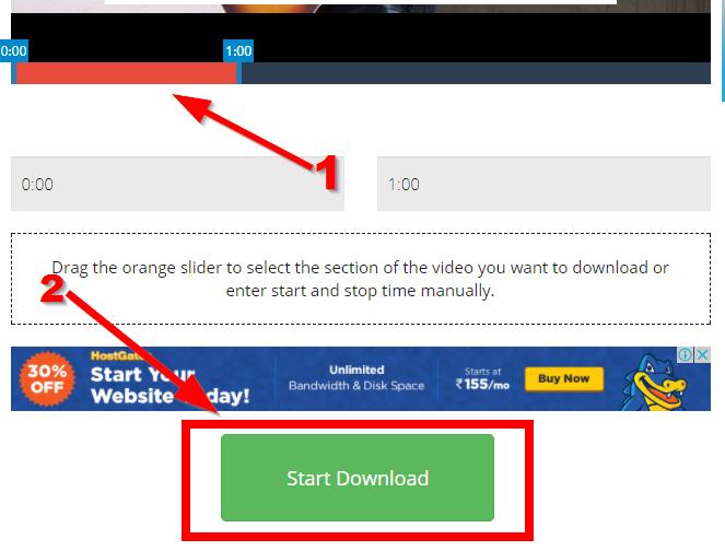 start downloading on tube2gram