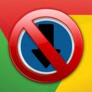 stop chrome blocking download