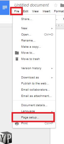 change google docs page margins