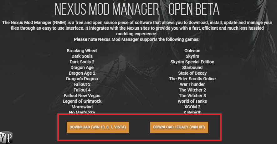 download the mod manager