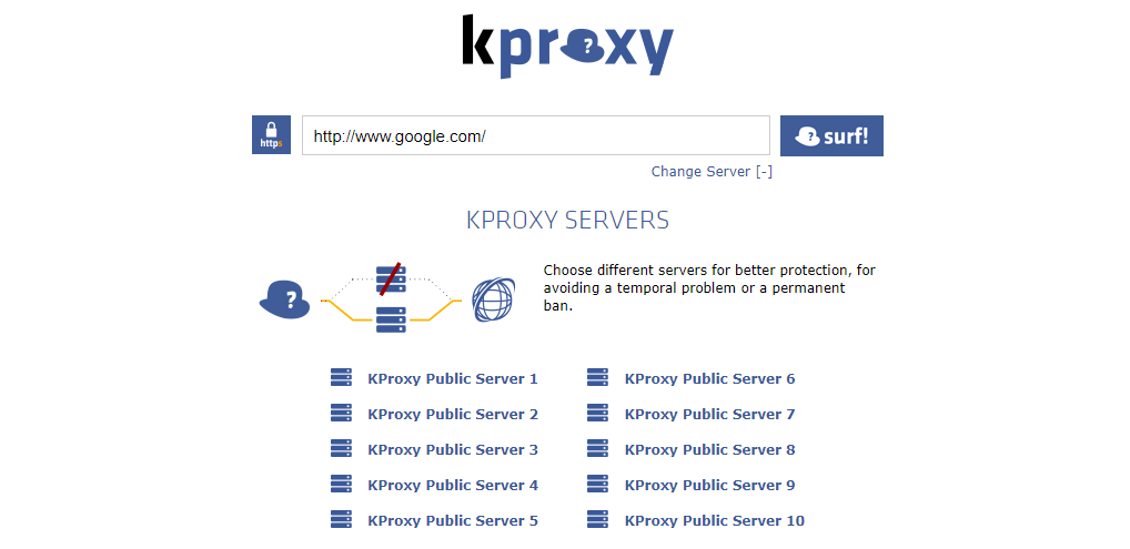 kproxy free anonymous web proxy